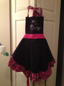Bridal shower apron